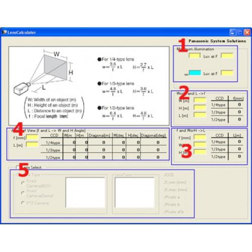 Phần mềm tính toán góc mở và khoảng cách cho ống kính Camera
